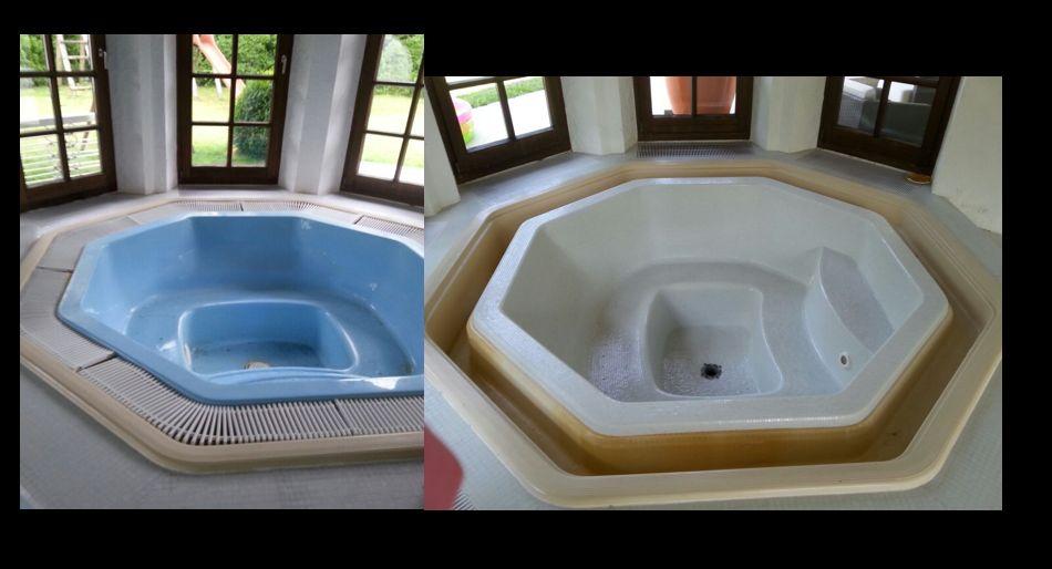 Mosaik-Sanierung Whirlpool alt vs. neu